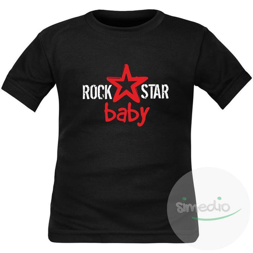 T-shirt enfant original : ROCK STAR BABY, , , - SiMEDIO
