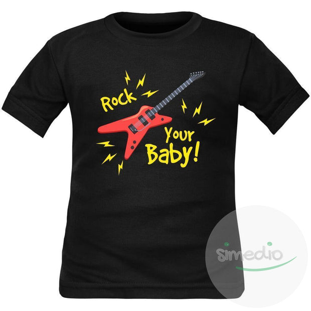 T-shirt enfant original : ROCK YOUR BABY, , , - SiMEDIO