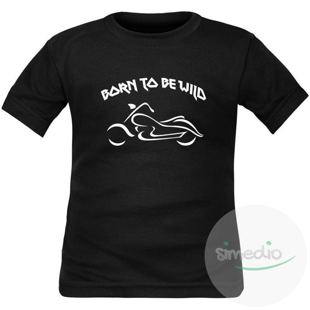 T-shirt enfant rock : BORN TO BE WILD, , , - SiMEDIO
