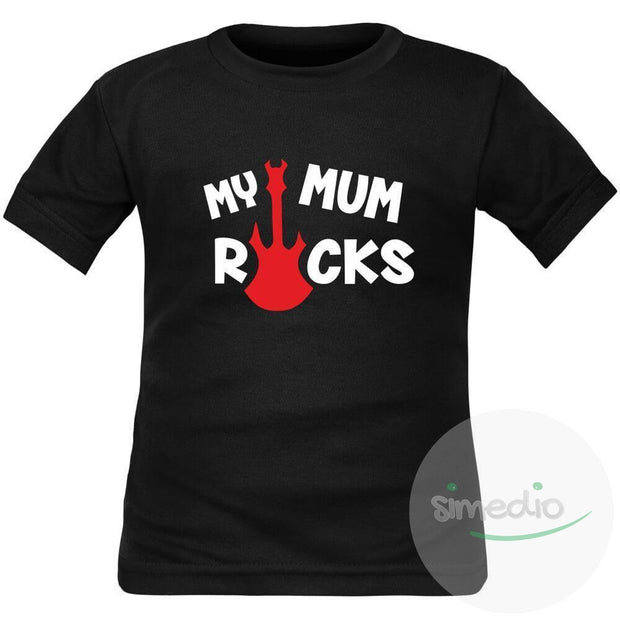 T-shirt enfant rock : MY MUM ROCKS, , , - SiMEDIO