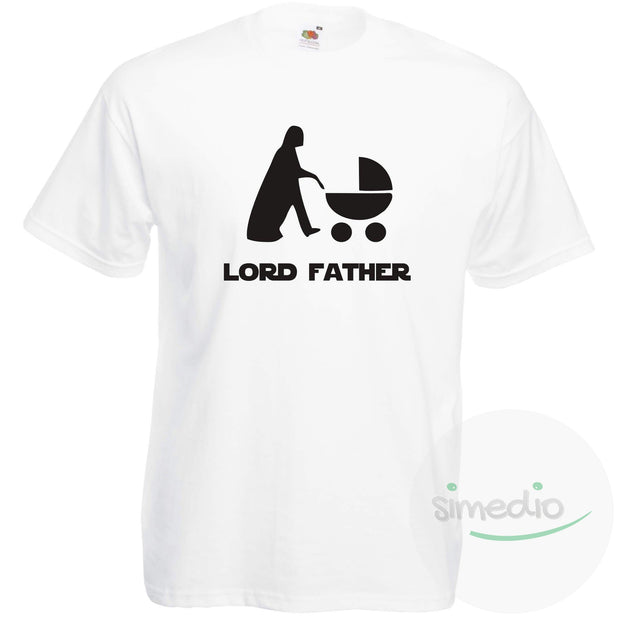 T-shirt original : LORD FATHER, Blanc, S, - SiMEDIO