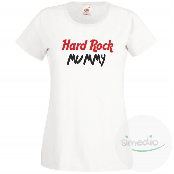T-shirt rock : HARD ROCK MUMMY, Blanc, S, - SiMEDIO