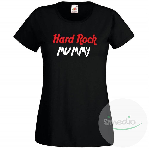 T-shirt rock : HARD ROCK MUMMY, Noir, S, - SiMEDIO
