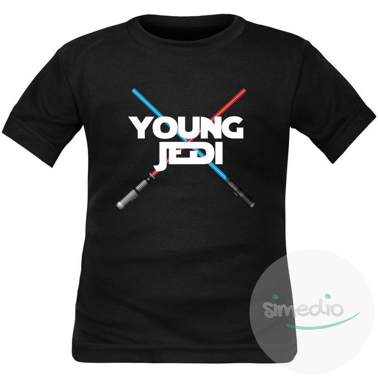 Tee shirt enfant geek : young JEDI, , , - SiMEDIO