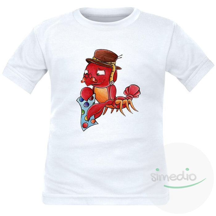 Tee shirt enfant signe du Zodiaque : CANCER, , , - SiMEDIO