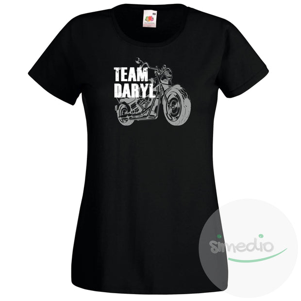 Tee shirt Walking Dead : Team Daryl, Noir, S, Femme - SiMEDIO
