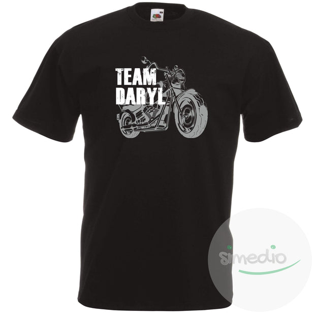 Tee shirt Walking Dead : Team Daryl, Noir, S, Homme - SiMEDIO