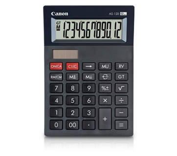 CANON AS-120 Desktop Calculator (12-Digits)