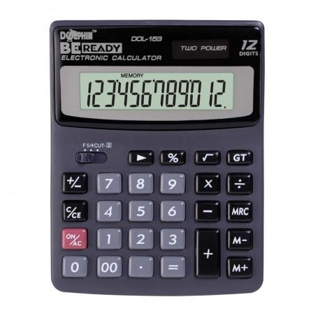 DOLPHIN Desktop Calculator DOL-153 (12-Digits)