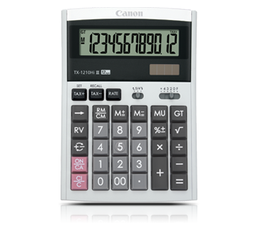 CANON TX-1210Hi III Calculator - 12-digit