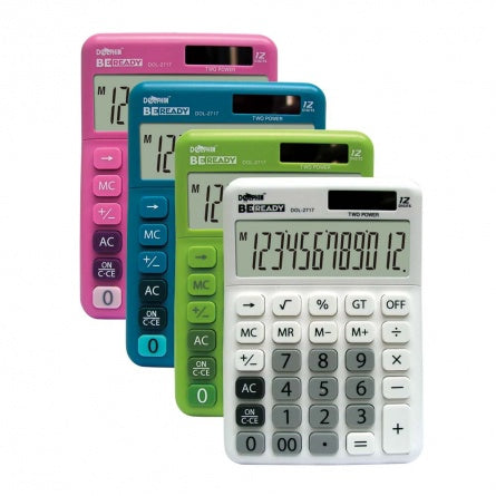 DOLPHIN Desktop Calculator DOL-2717 (12-Digits)