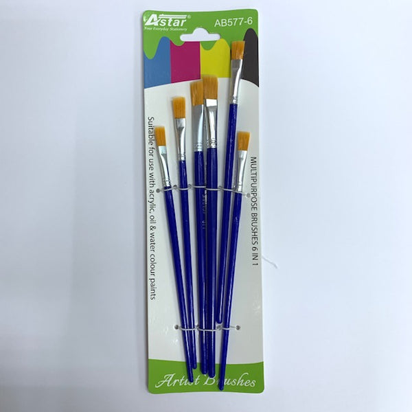 ASTAR Artist Flat Brush AB577-6 (No.2,4,6,8,10,12)