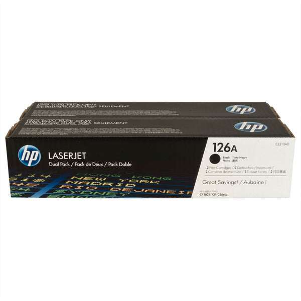 HP CLJ CP1025 Black Print Cartridge Dual Pack Cartridge CE310AD