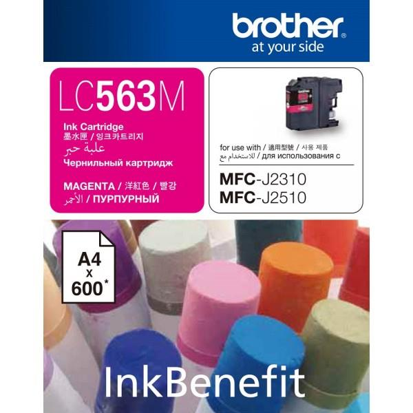 Brother LC-563M Ink Cartridge (Magenta) (600 PGs)