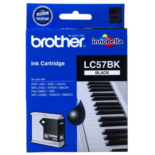 Brother LC-57BK Ink Cartridge (Black) (500 PGs)