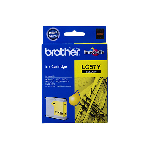 Brother LC-57Y Ink Cartridge (Yellow) (400 PGs)