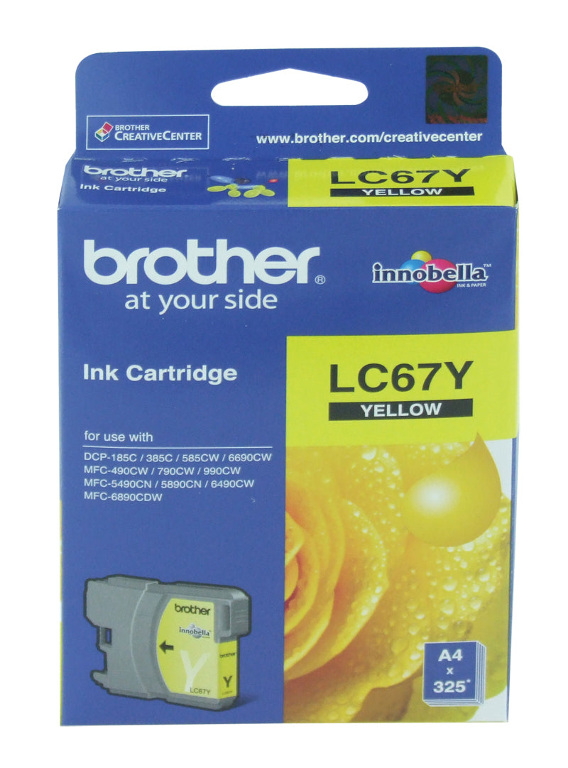 Brother LC-67Y Ink Cartridge (Yellow) (320 PGs)