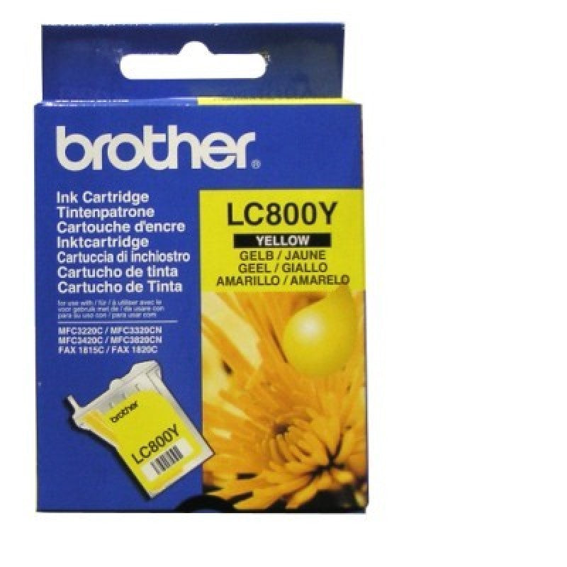Brother LC-800Y Ink Cartridge (Yellow) (400 PGs)