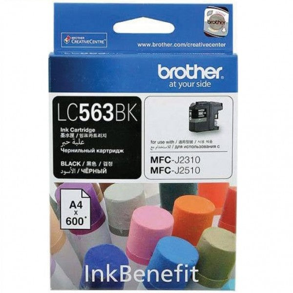 Brother LC-563BK Ink Cartridge (Black) (600 PGs)