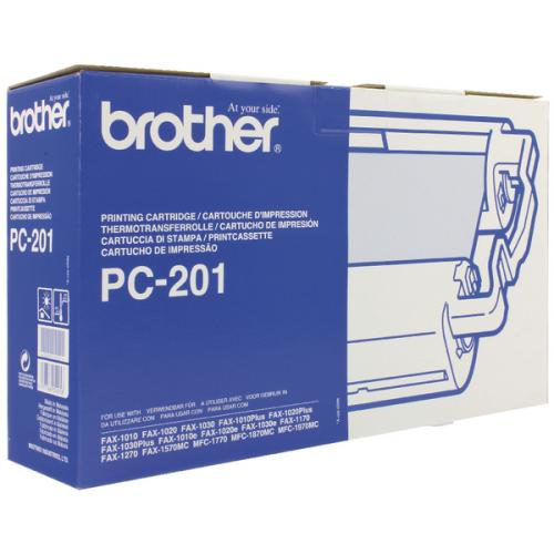 Brother PC201 1 Cartridge & 1 Ribbon (420 PGs)