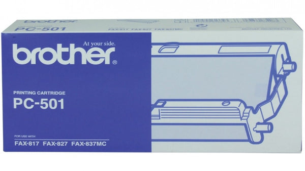Brother PC501 1 Cartridge & 1 Ribbon (144 PGs)