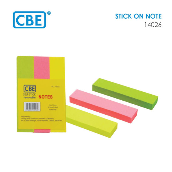 CBE Self-Stick Note 14026
