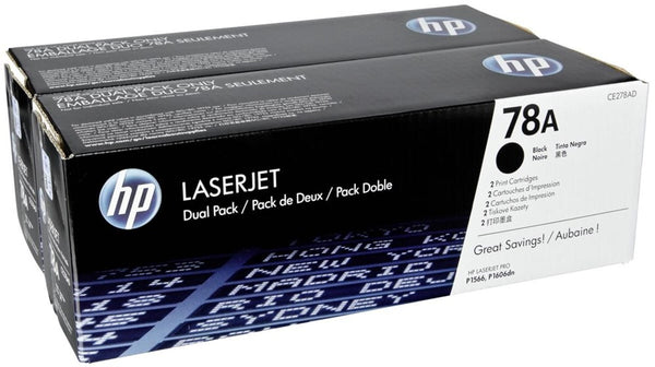 HP Laserjet CE278A Dual Pack Print Cartridge CE278AD