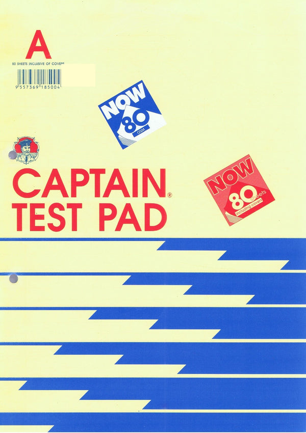 Captain Test Pad A4 80 Sheets
