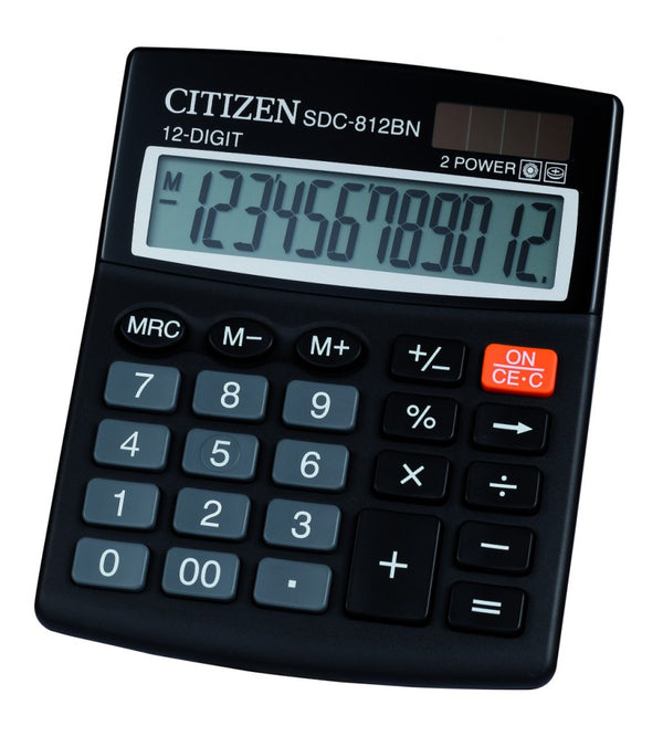 Citizen 2-Power Calculator 12-Digit SDC-812II