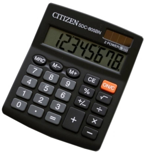 Citizen Calculator (8 DGT 2-Way Power) SDC-805BN