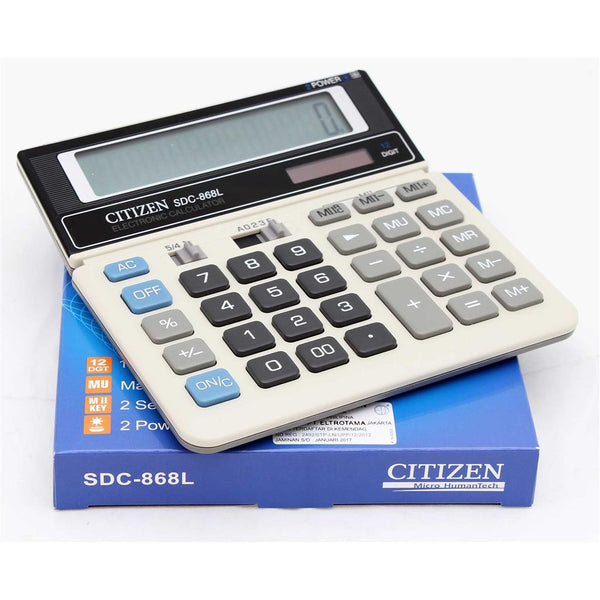 Citizen Micro Humantech Calculator 12-Digit SDC-868L