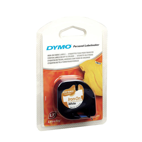 Dymo Letratag Personal Label Maker Refill Iron-on White S0718850