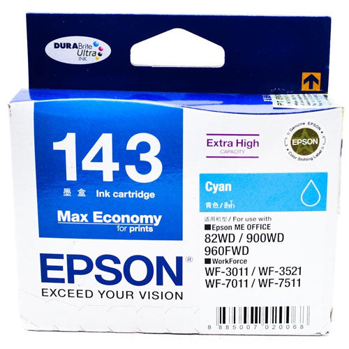 Epson T143290 (T143) ME Office 960FWD (Cyan) (S-Size, High Cap)