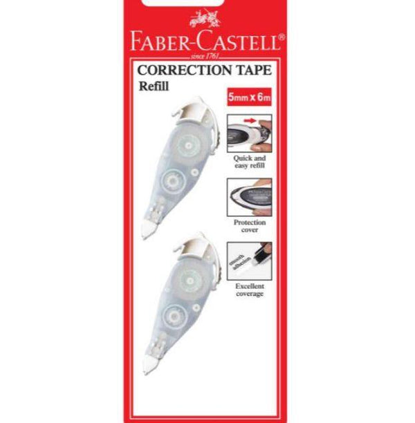 Faber Castell 5MM x 6M Correction Tape Refill (2PCs/PKT)
