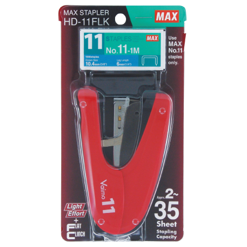 Max Vaimo 11 Flat Clinch Stapler Set HD-11FLK