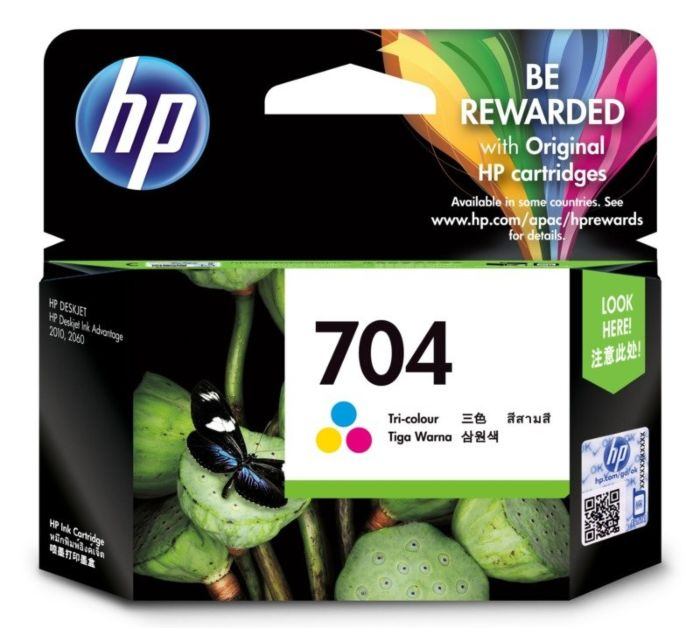 HP 704 Tri-color Ink Cartridge CN693AA