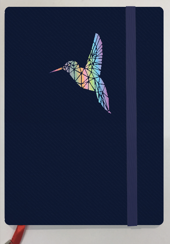 Holographic Hummingbird -- 2019 Planner & Notebook