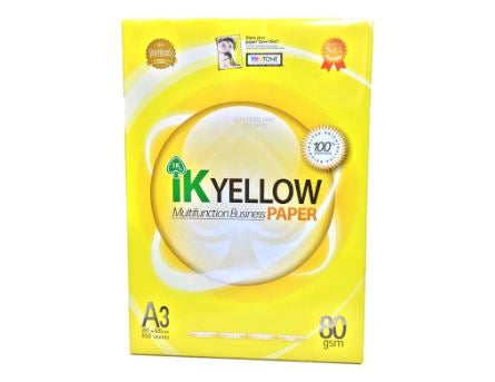 IK Yellow Paper - A3 80GSM (1 ream)