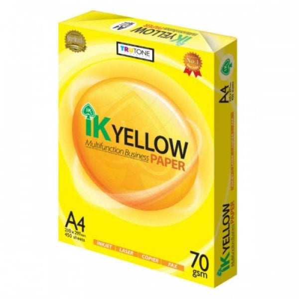 IK Yellow Paper - A4 70GSM (1 ream)