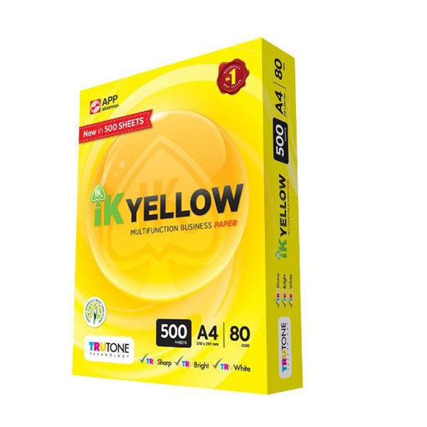 IK Yellow Paper - A4 80GSM (1 ream)