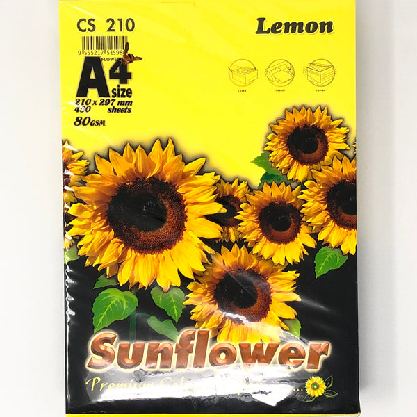 Sunflower A4 Paper 80GSM Lemon -450'S CS210