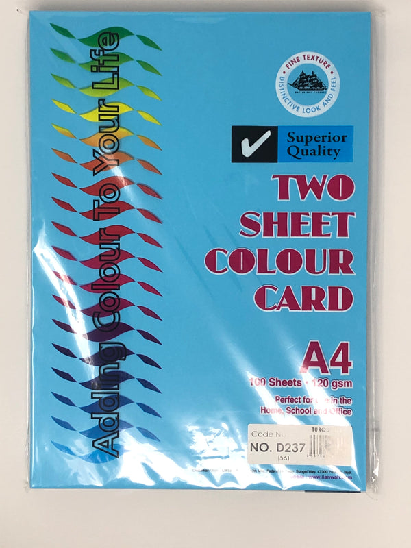 Battleship 2 Sheet Card 120GSM A4 (Dark Colour)