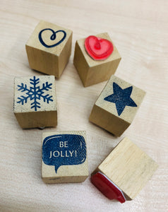 Christmas Rubber Stamps 1""
