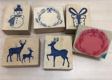 Christmas Rubber Stamps 3""