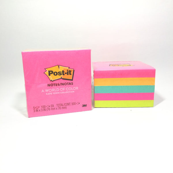 3M Post-it® Notes 3'' x 3'' (76MM x 76MM) Capetown Cube