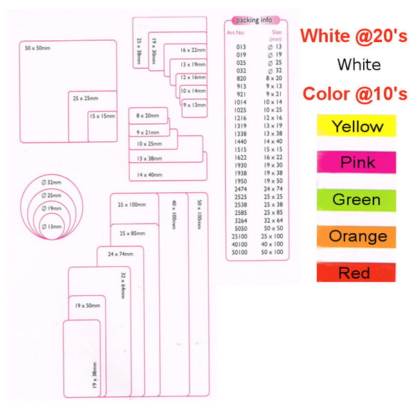 DBest Self-Adhesive Labels Round White