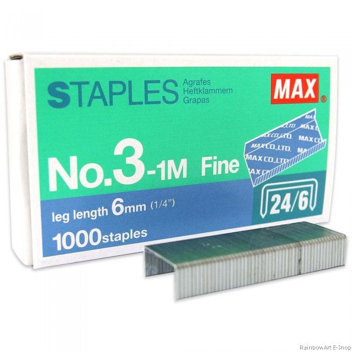 Max No. 3 - 1M Staples (24/6) 1 Box