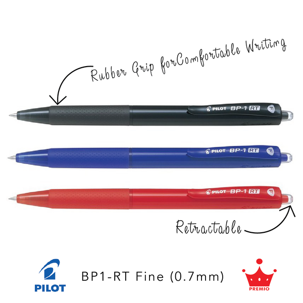 Pilot BP-1RT Ballpoint Pen (Fine, 0.7mm)