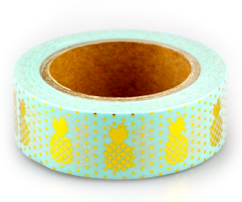 Green Pineapple Washi Tape