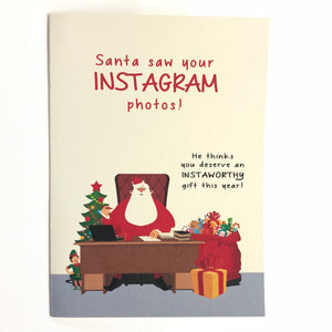 Santa Saw Your Instagram Photos
